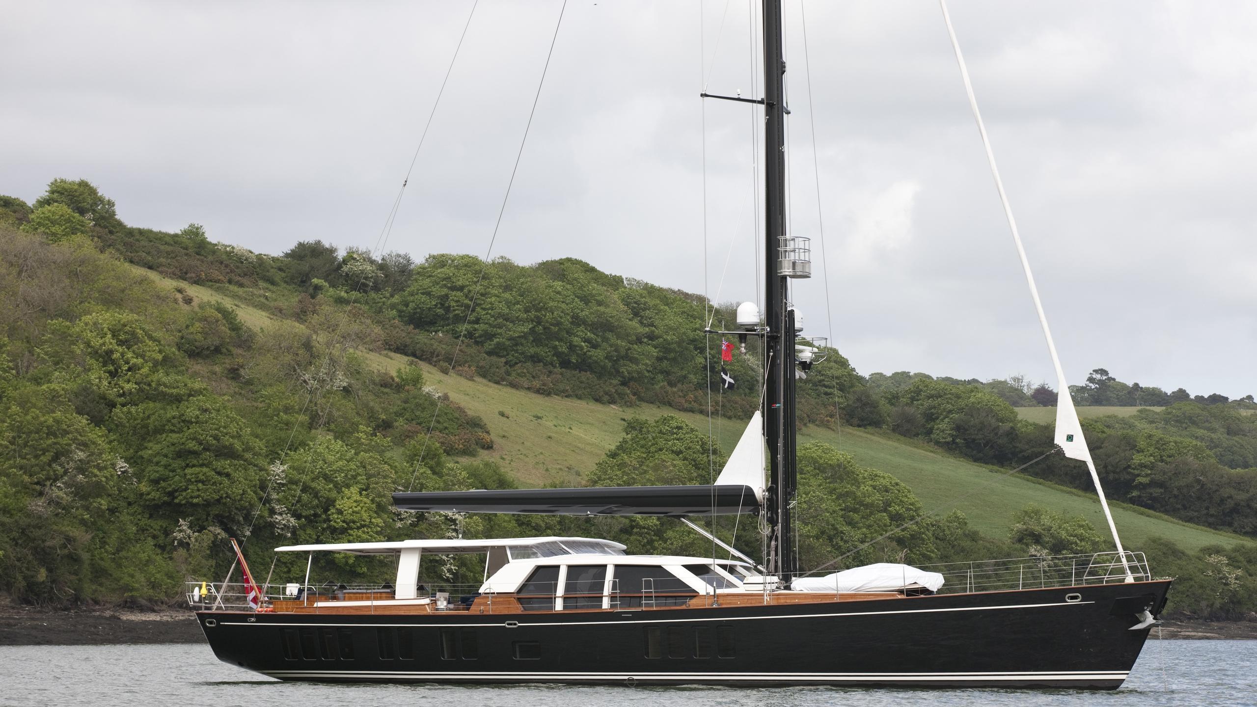 Akalam sailing yacht at anchor