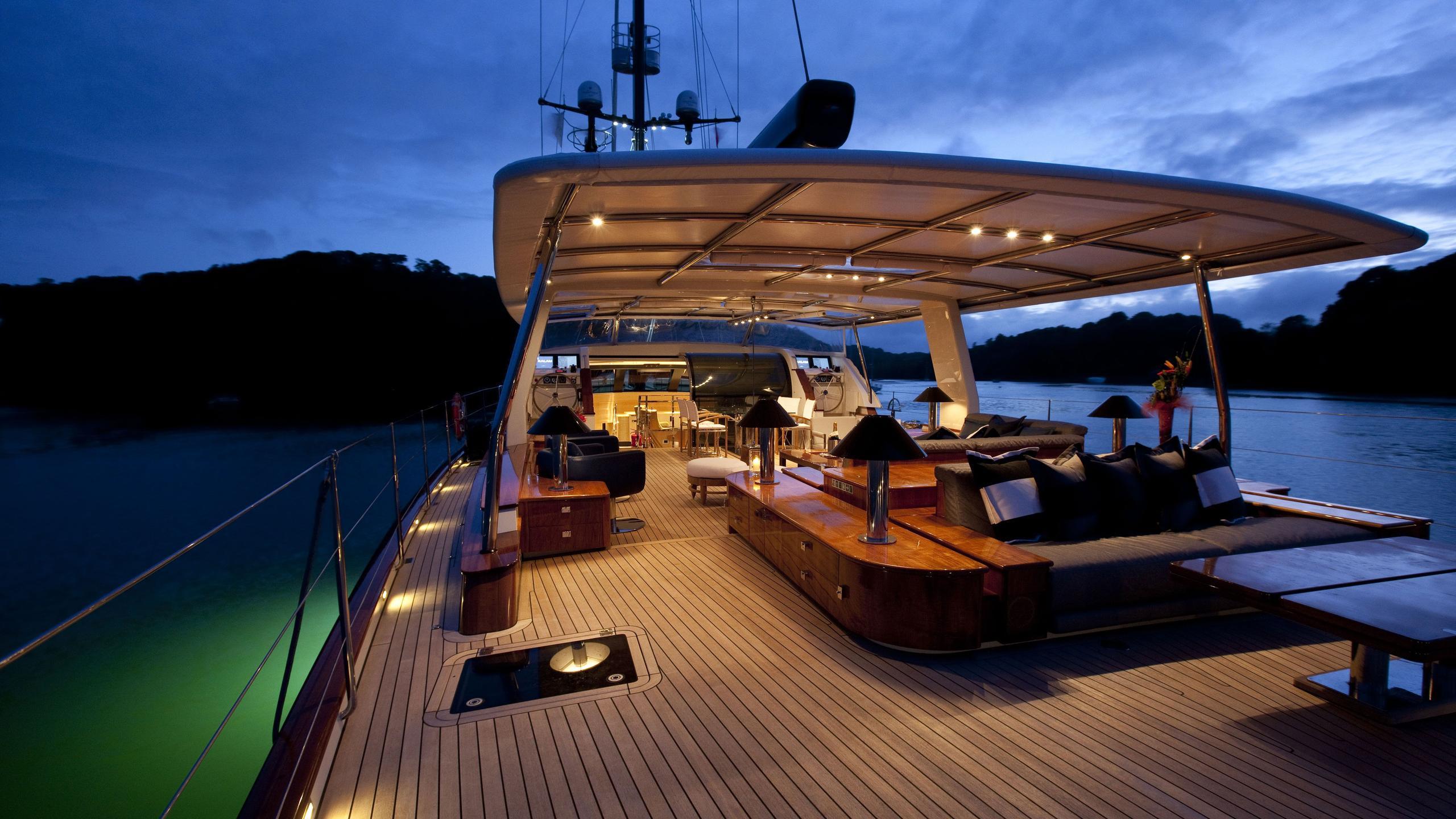 Akalam sailing yacht deck