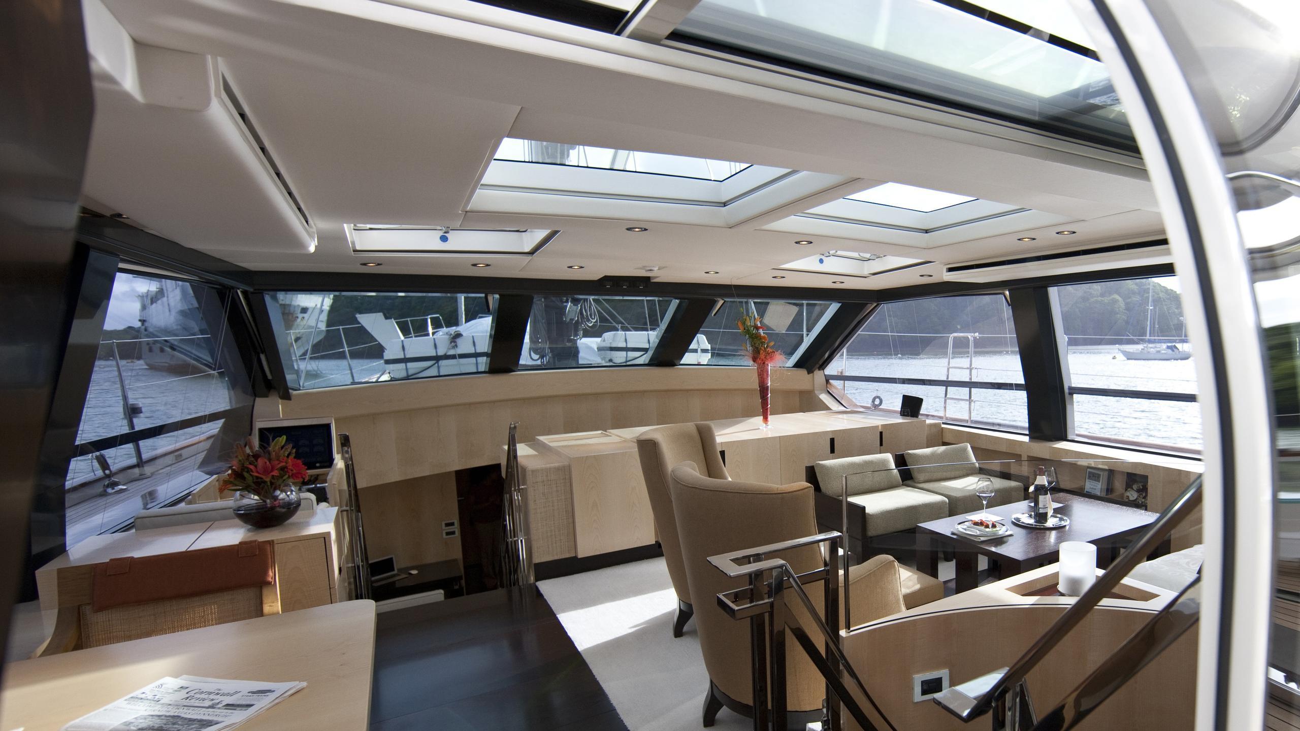 Akalam sailing yacht saloon