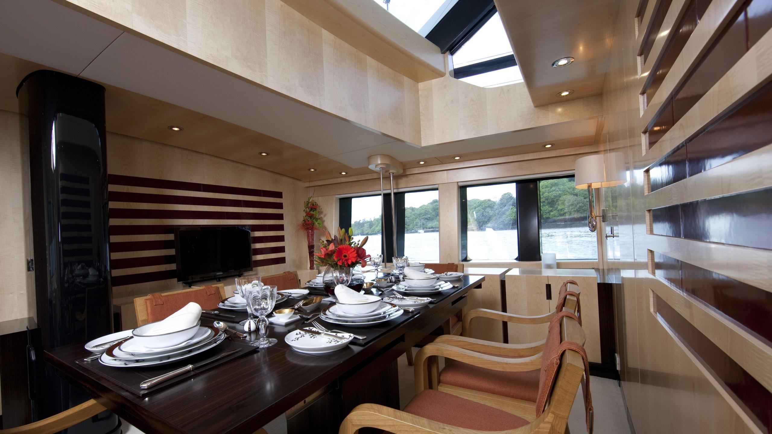 Akalam sailing yacht dining area