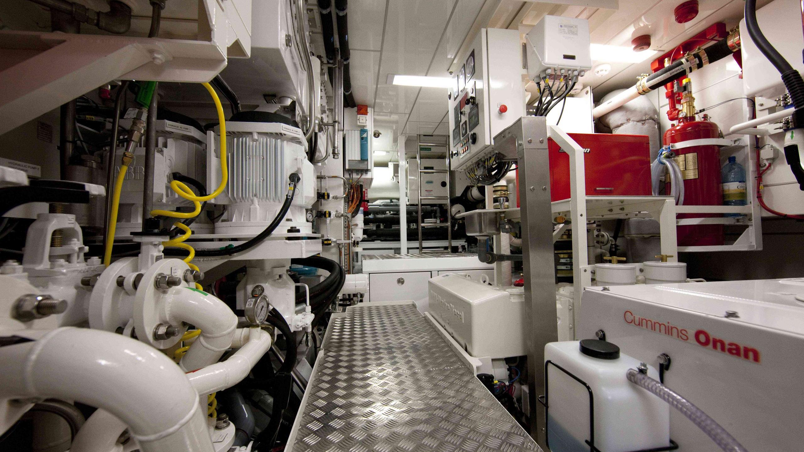Akalam sailing yacht engine room