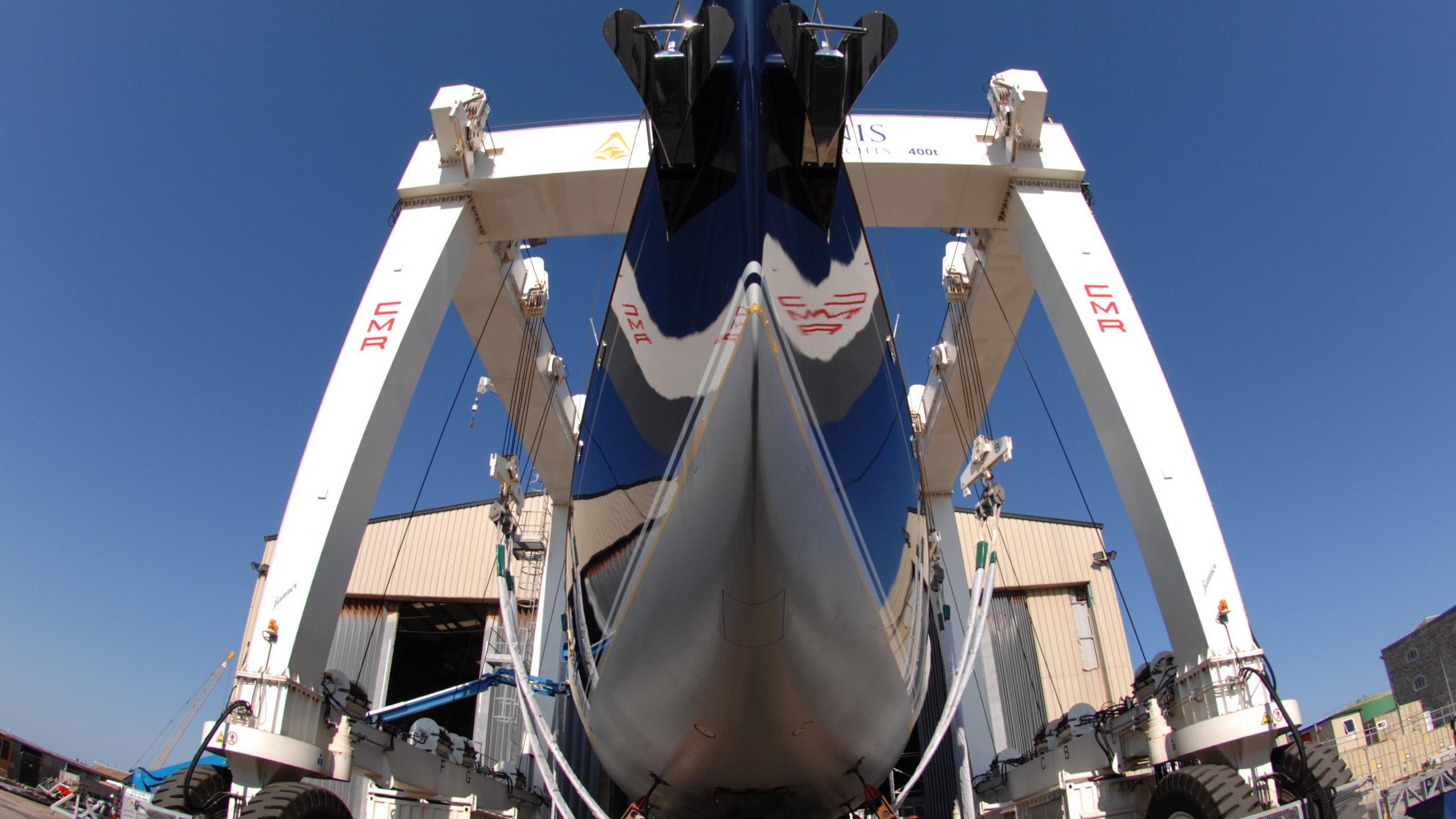 Nostromo sailing  at Pendennis shipyard