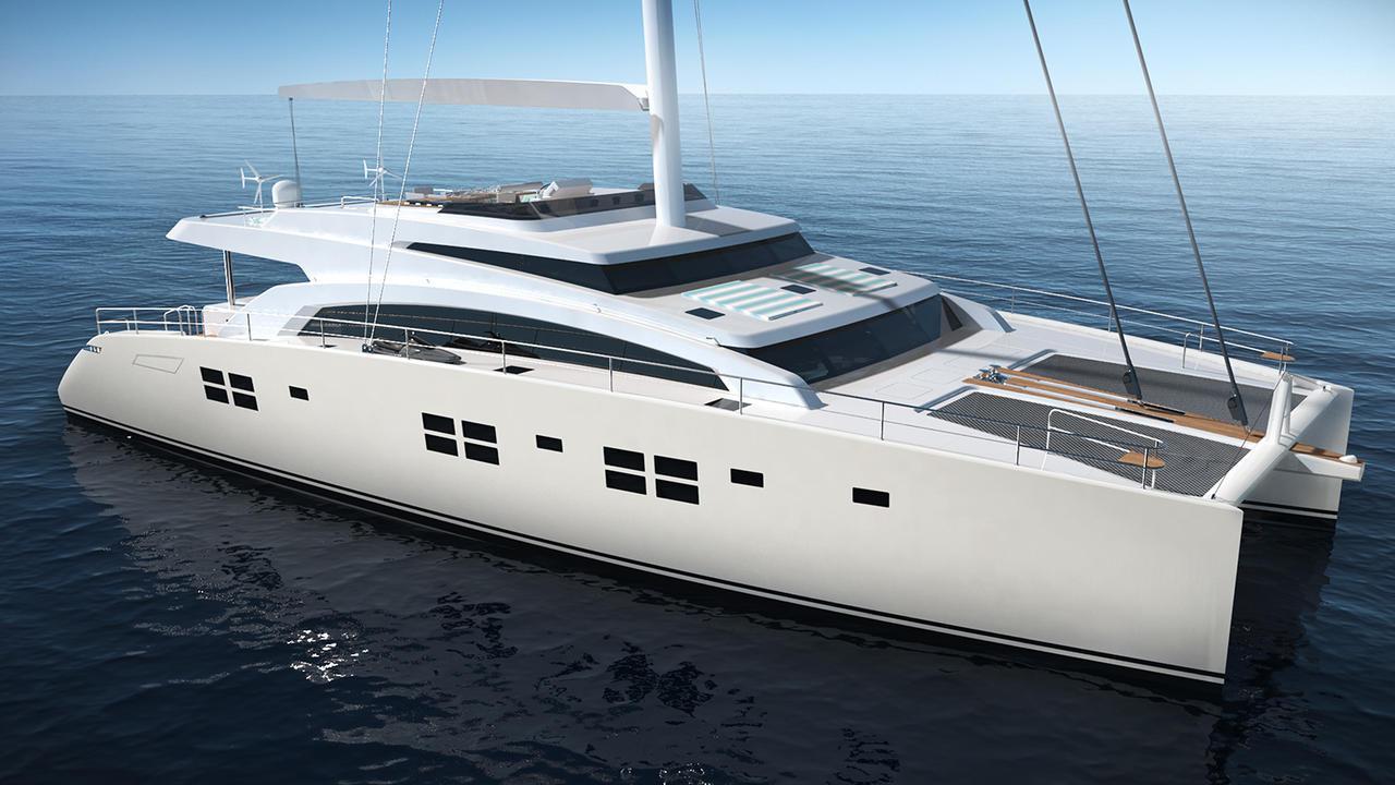 ruwani catamaran sailing yacht sunreef yachts 2017 27m rendering