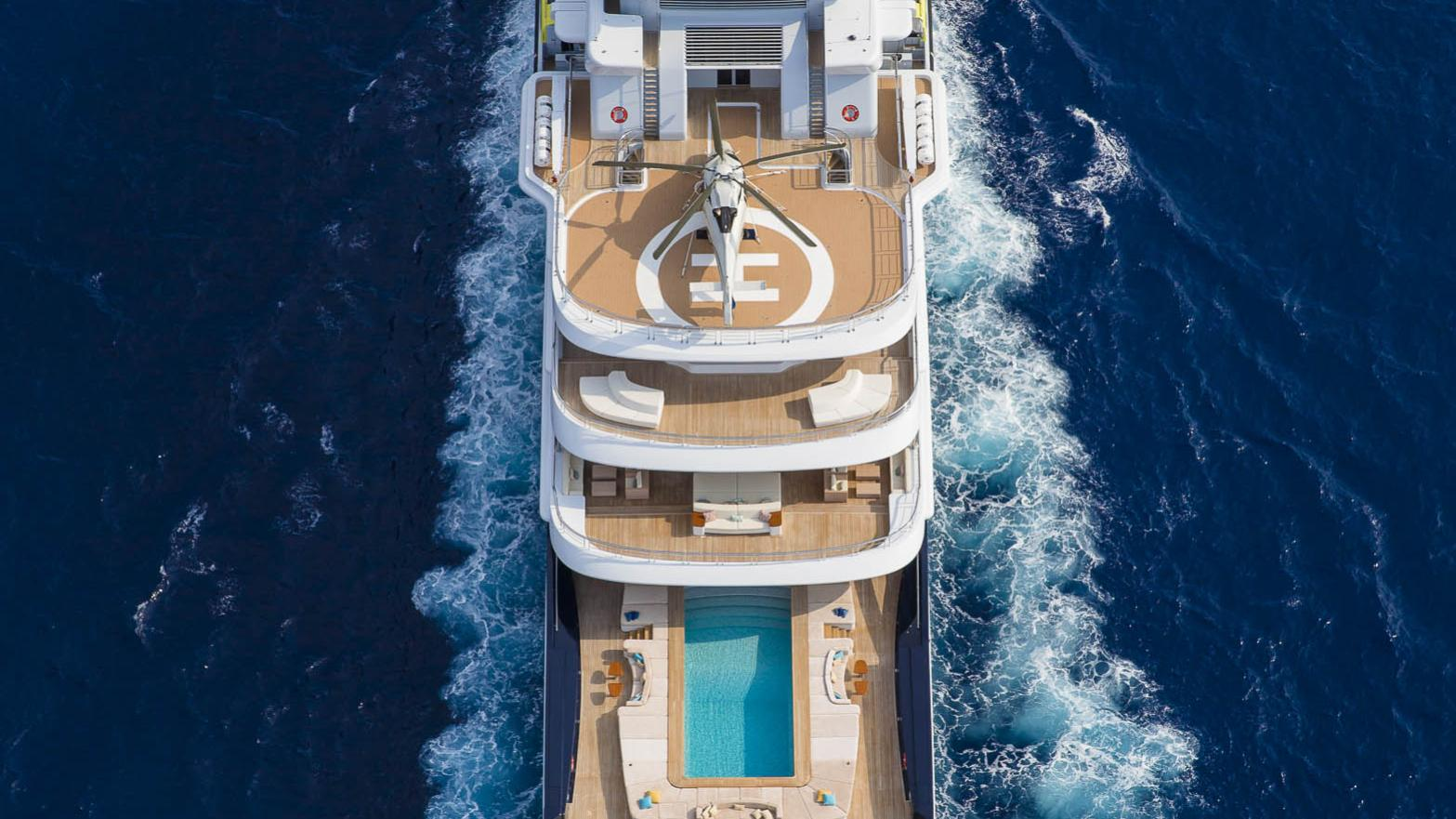 luna superyacht lloyd werft 2010 115m aerial