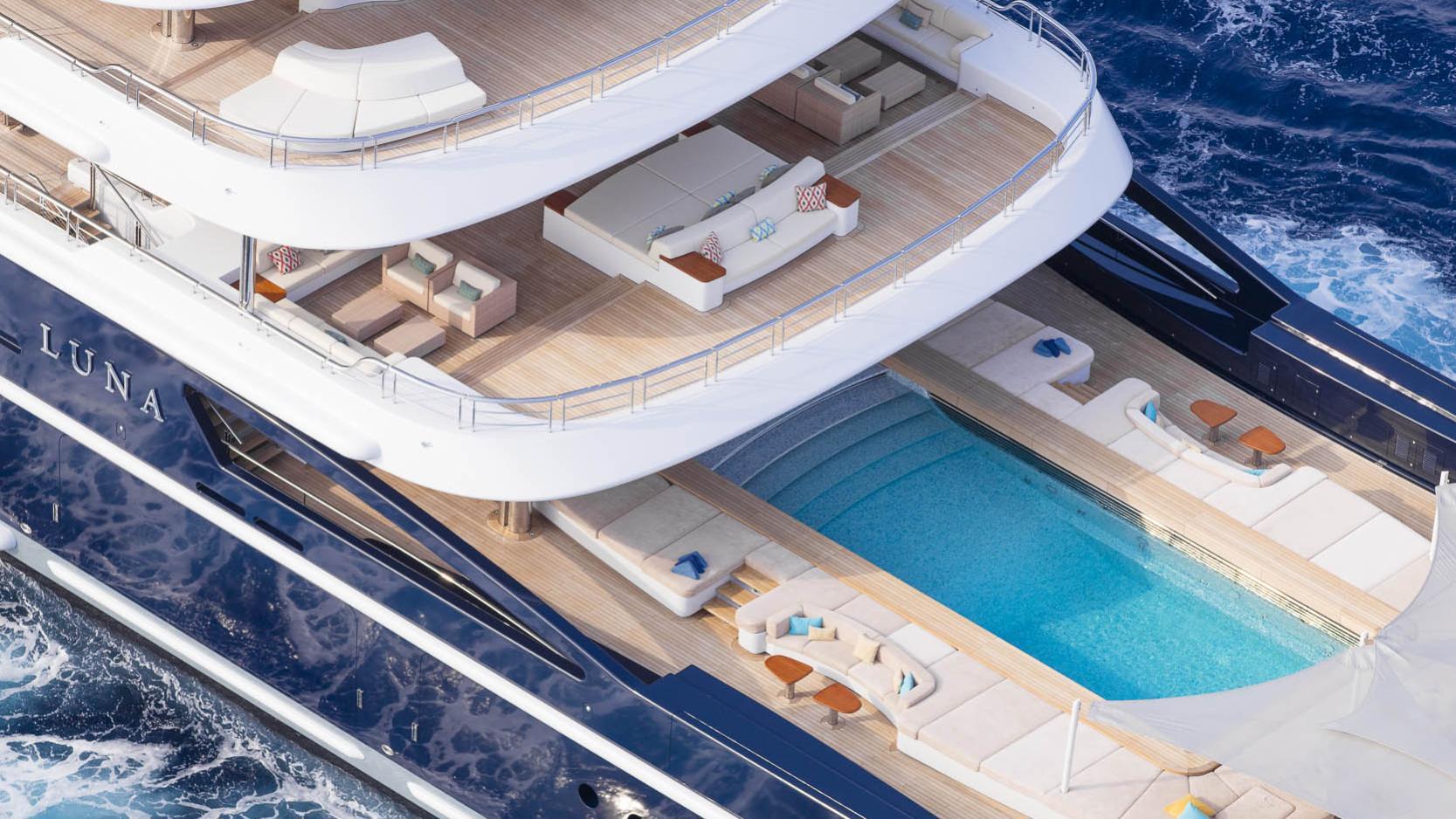 luna superyacht lloyd werft 2010 115m side aerial