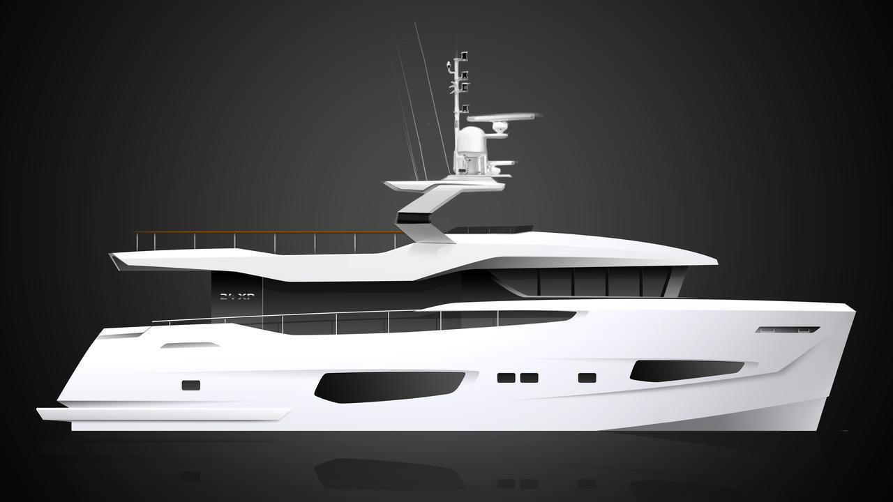 numarine 26xp hull 2 motoryacht numarine 2018 25m rendering