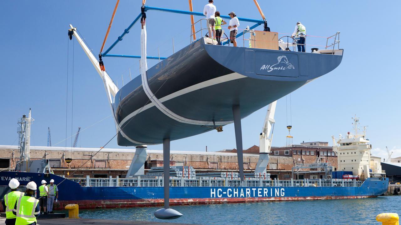 allsmoke sailing yacht southern wind shipyard swrp90 2017 27m half stern launch