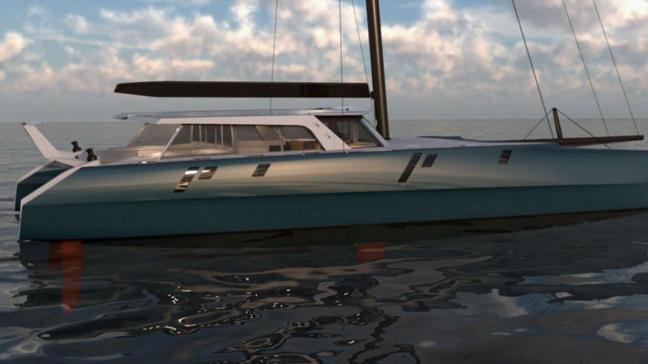 g78 catamaran sailing yacht gunboat 2016 24m rendering