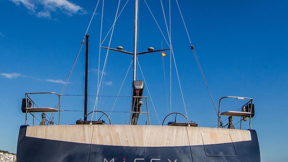 missy sailing yacht vitters 2016 33m stern