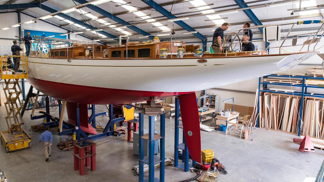 acadia sailing yacht claasen 2017 27m under construction