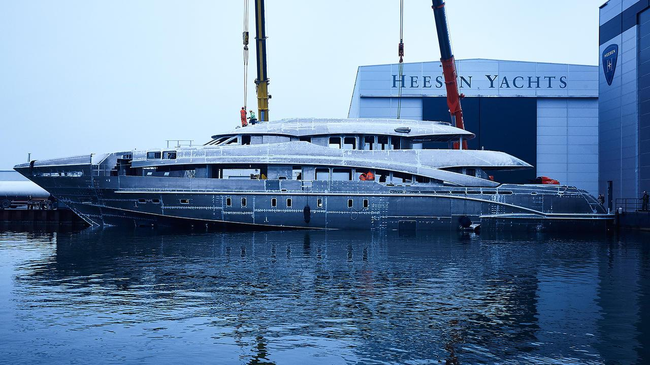 white project ayla motoryacht heesen 2018 50m under construction