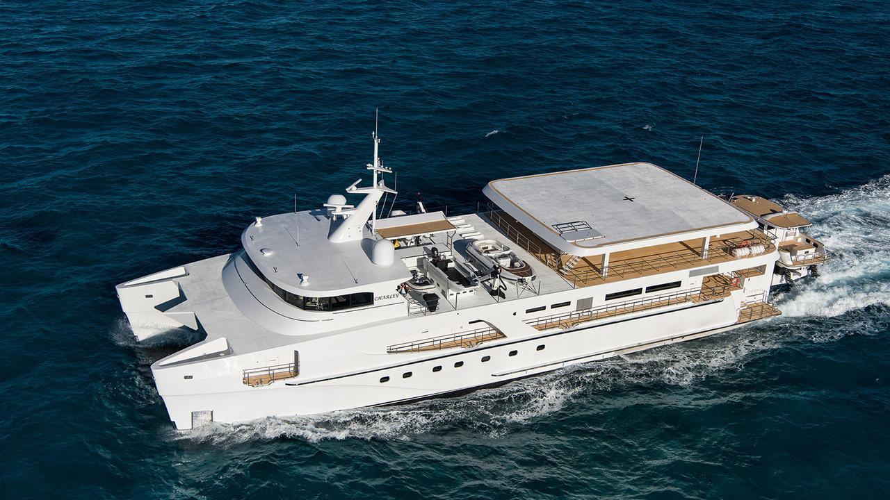 charley catamaran motoryacht echo yachts 51m 2017 cruising aerial