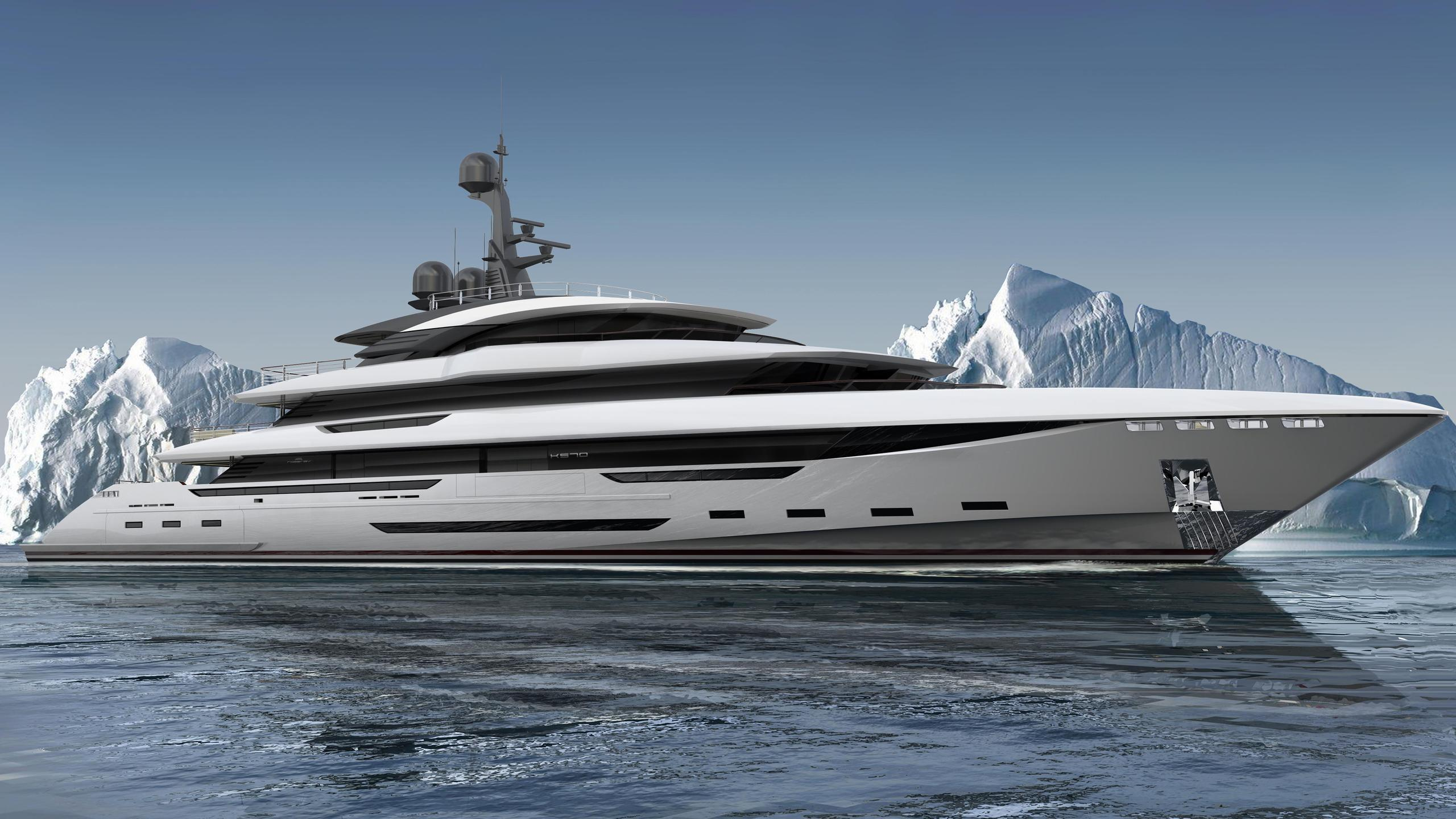 king shark motoryacht rossinavi 2020 70m rendering
