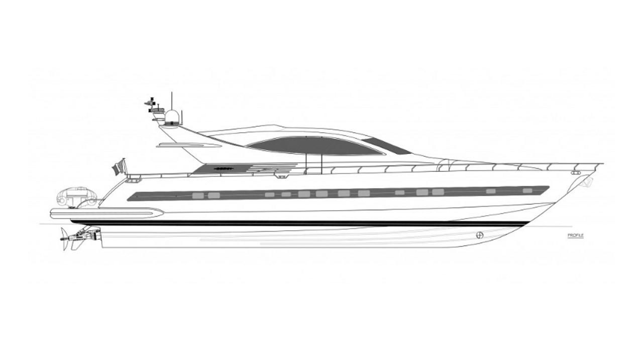 flamarosa motoryacht ccn 2005 26m rendering