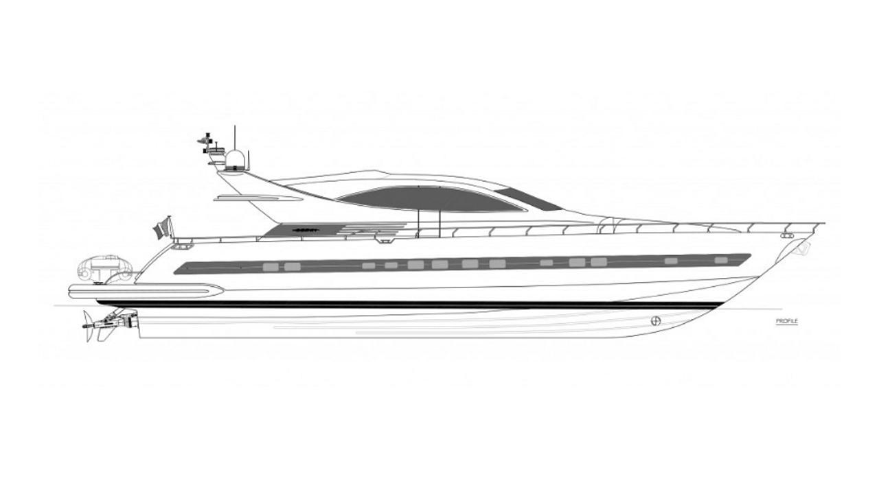 jana motoryacht ccn 2005 26m rendering
