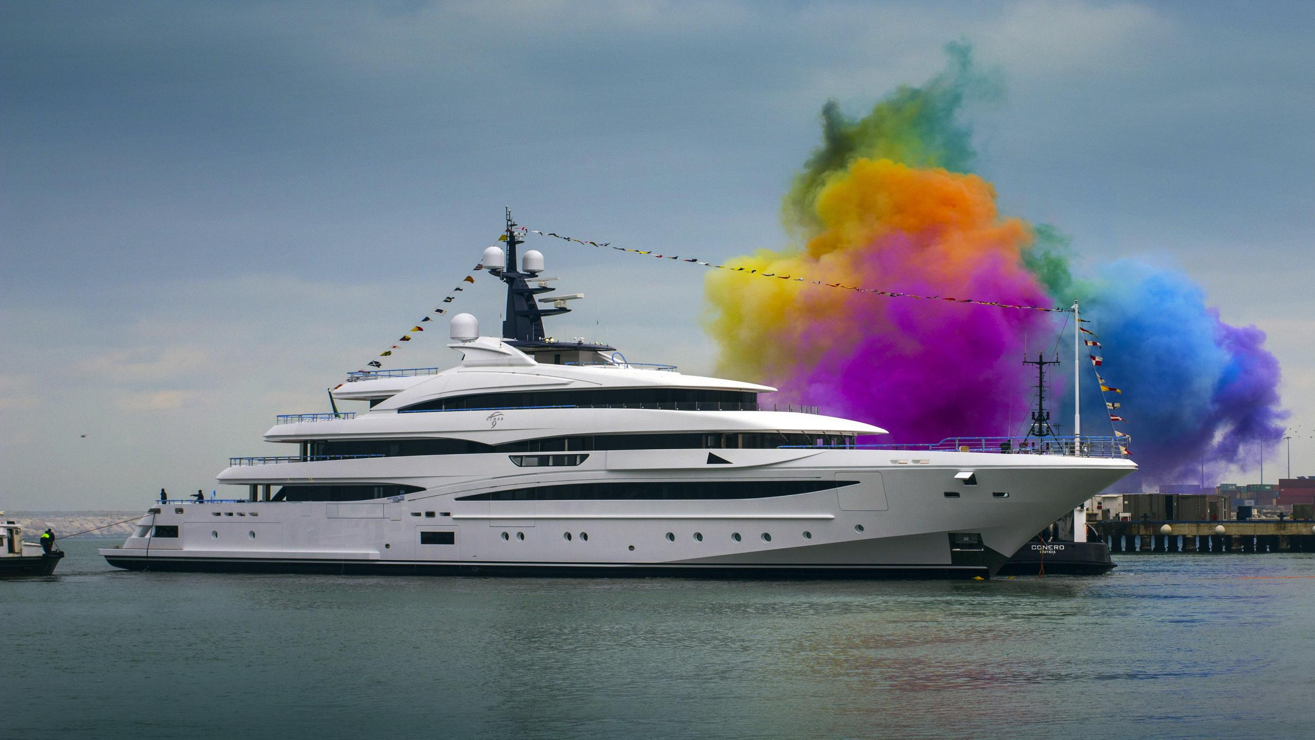 cloud 9 superyacht crn hull 131 2017 74m launch ceremony