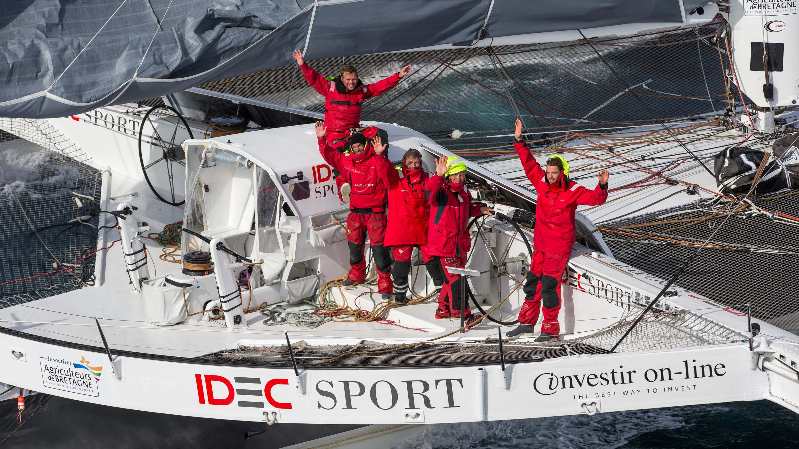 idec sport trimaran racing yacht multiplast 2006 31m record team