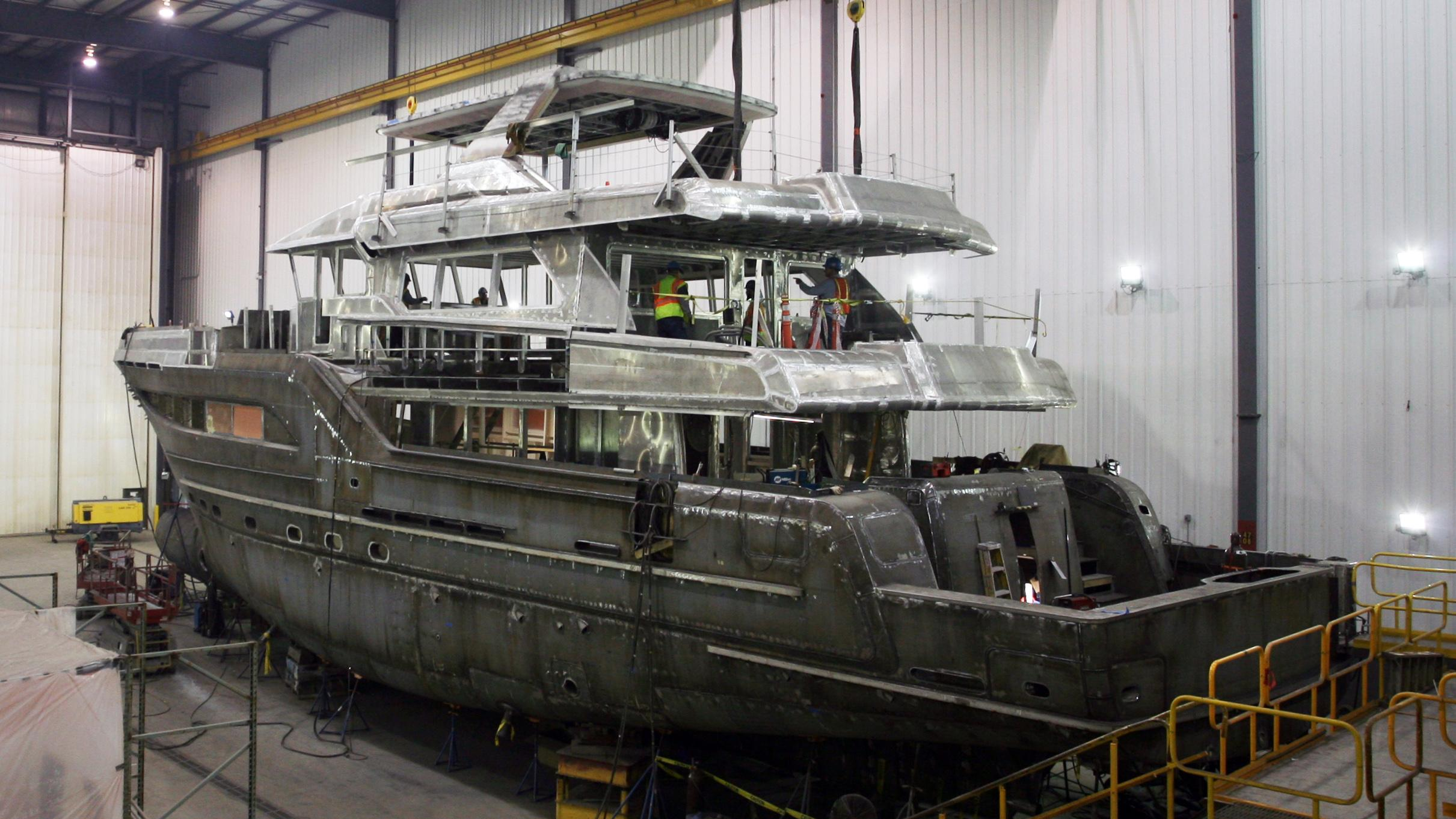 northland motoryacht burger boat 2017 32m hull superstructure
