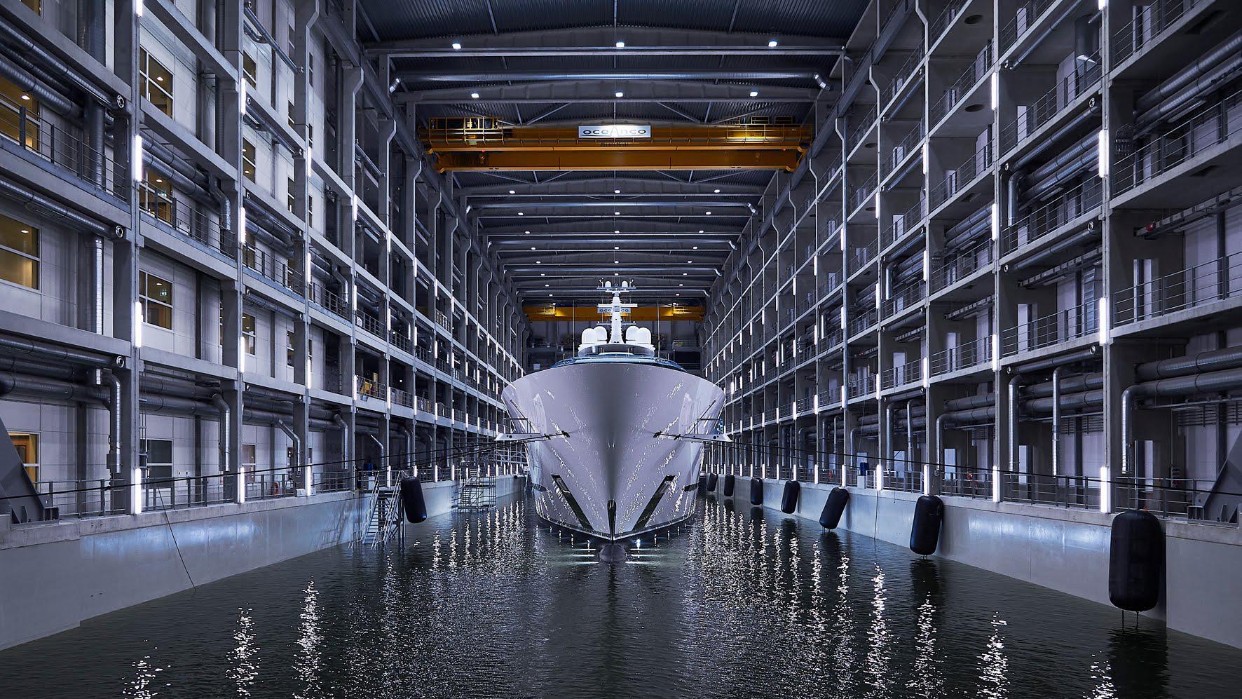 jubilee motoryacht oceanco y714 110m 2017 shed bow