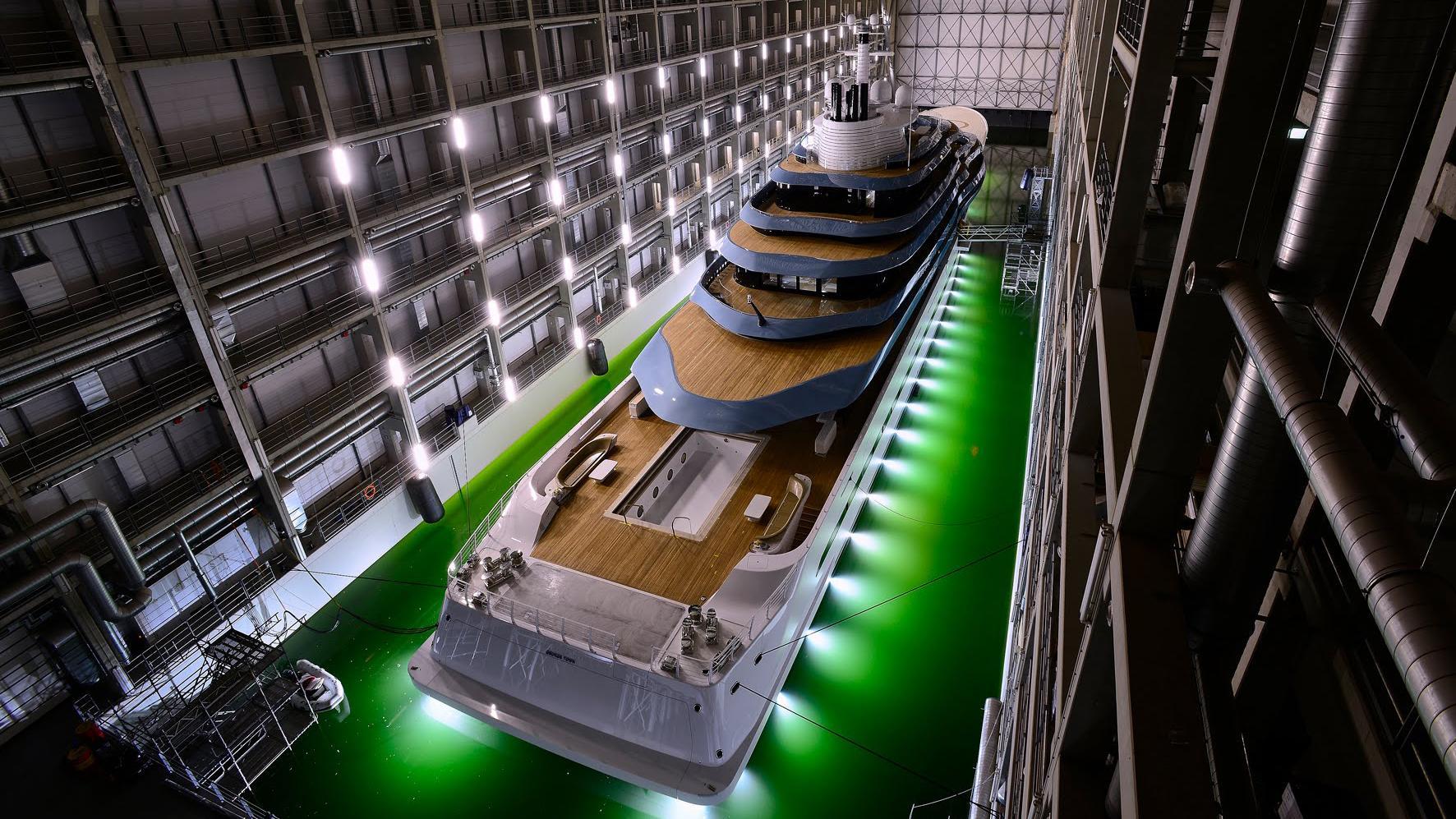jubilee motoryacht oceanco y714 110m 2017 shed aerial
