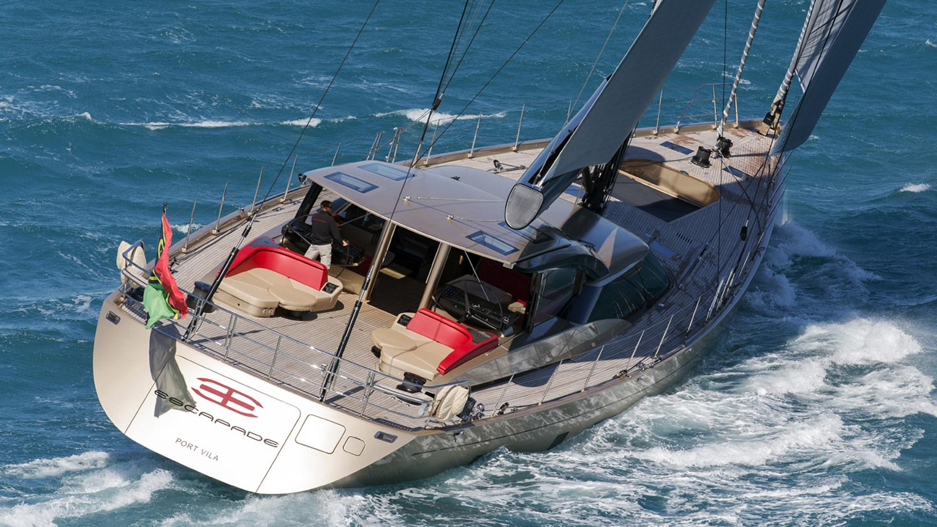 escapade sailing yacht fitzroy yachts 39m 2014 half stern