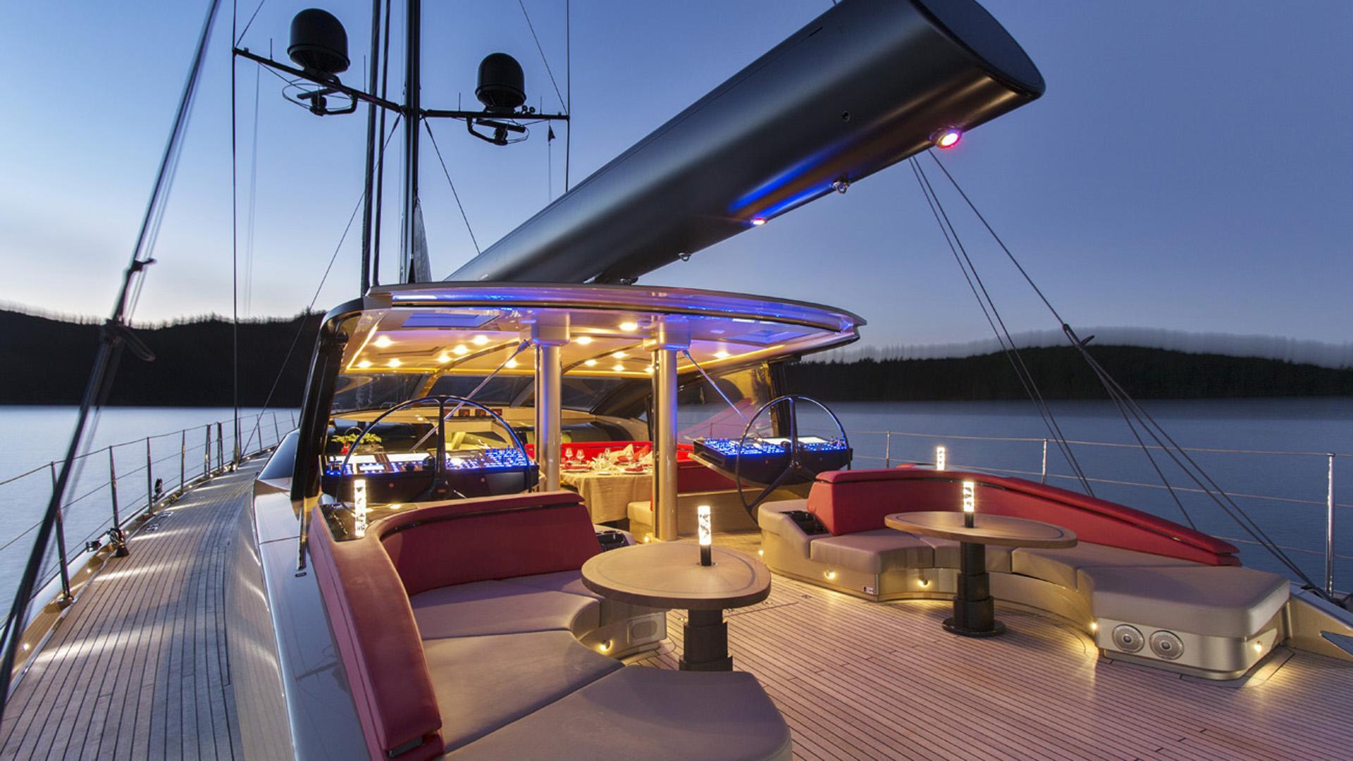 escapade sailing yacht fitzroy yachts 39m 2014 aft deck