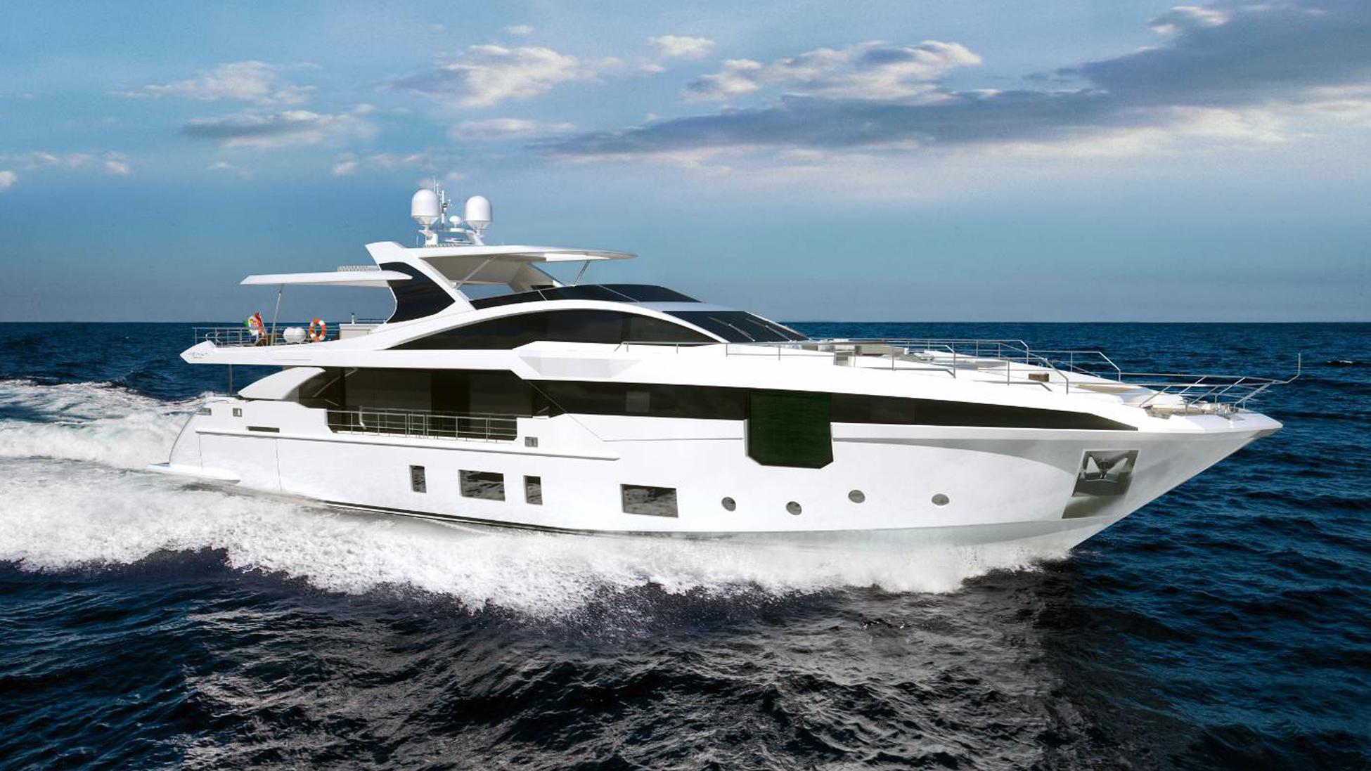 azimut 35m hull 15 motoryacht 2017 35m cruising rendering