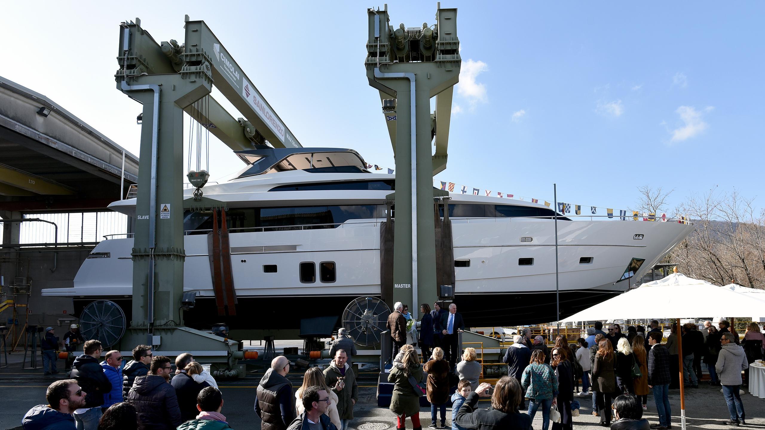 francamarina motoryacht sanlorenzo sl96 29m 2017 launch