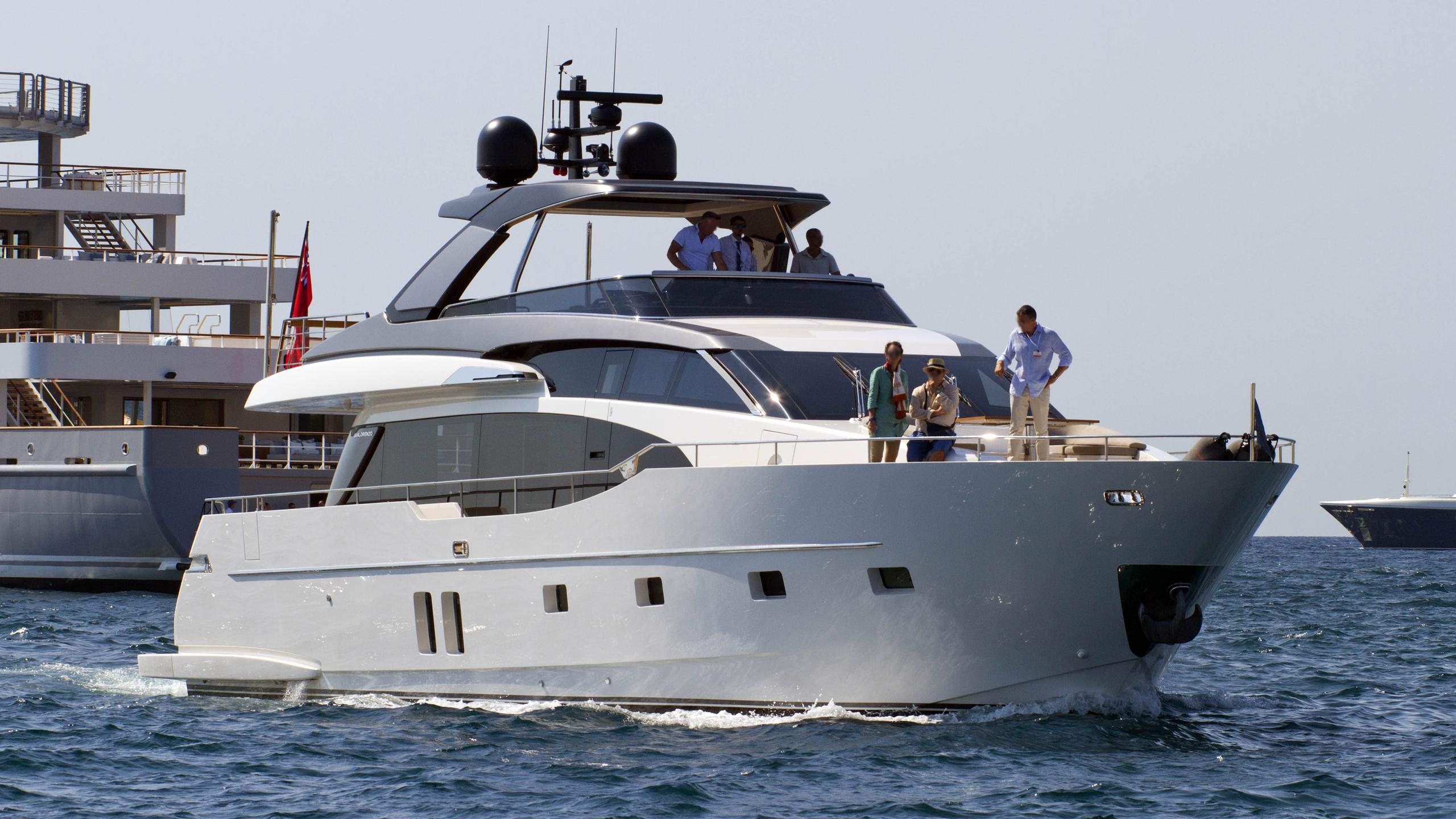 sailing elegance motoryacht sanlorenzo sl78 2016 25m half profile