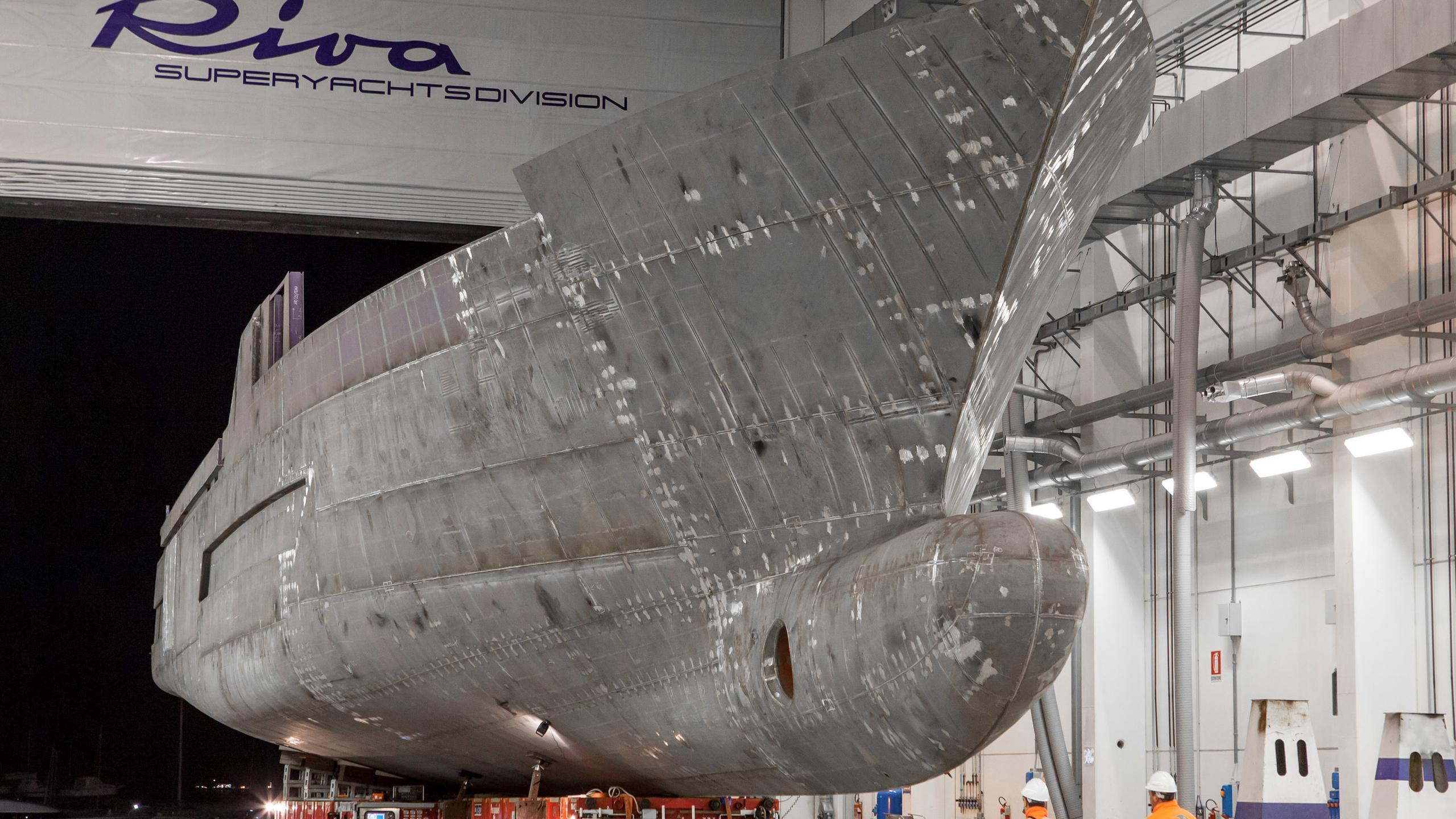 race motoryacht riva yachts 50m 2019 hull bow