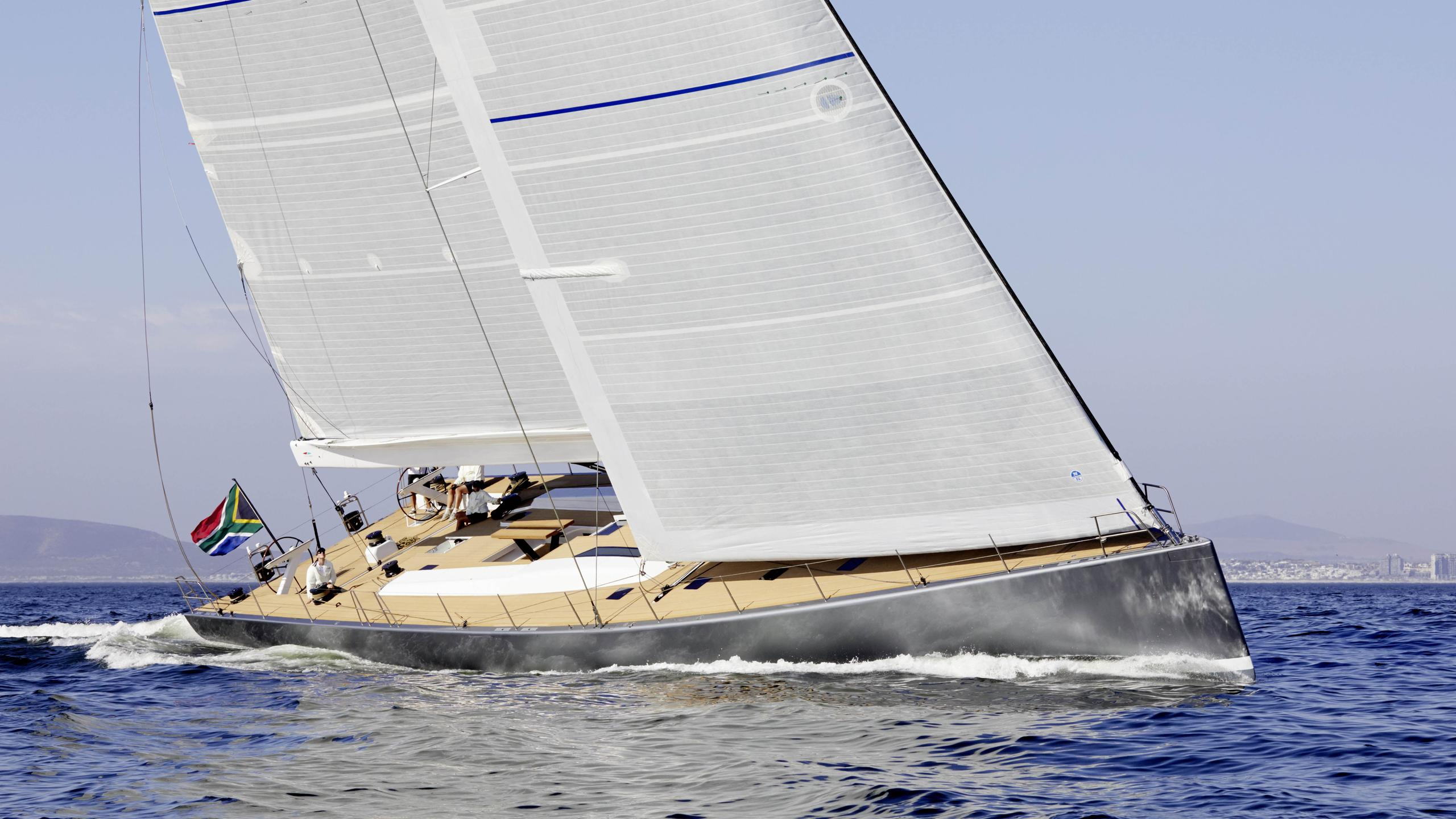 allsmoke sailing yacht southern wind shipyard swrp90 2017 27m half profile