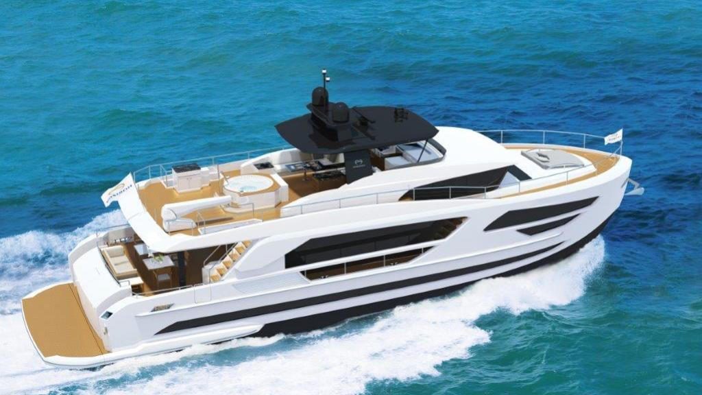 fd85 hull 2 motoryacht horizon 26m 2017 rendering