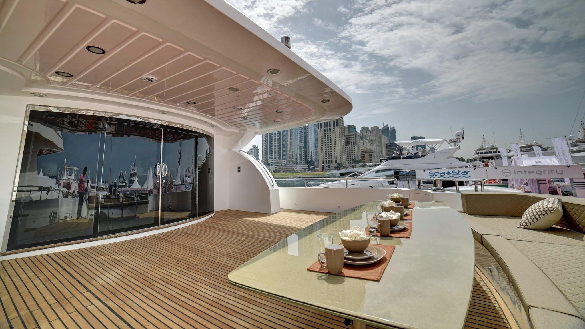 as130 motoryacht al shaali marine 39m 2017 aft deck