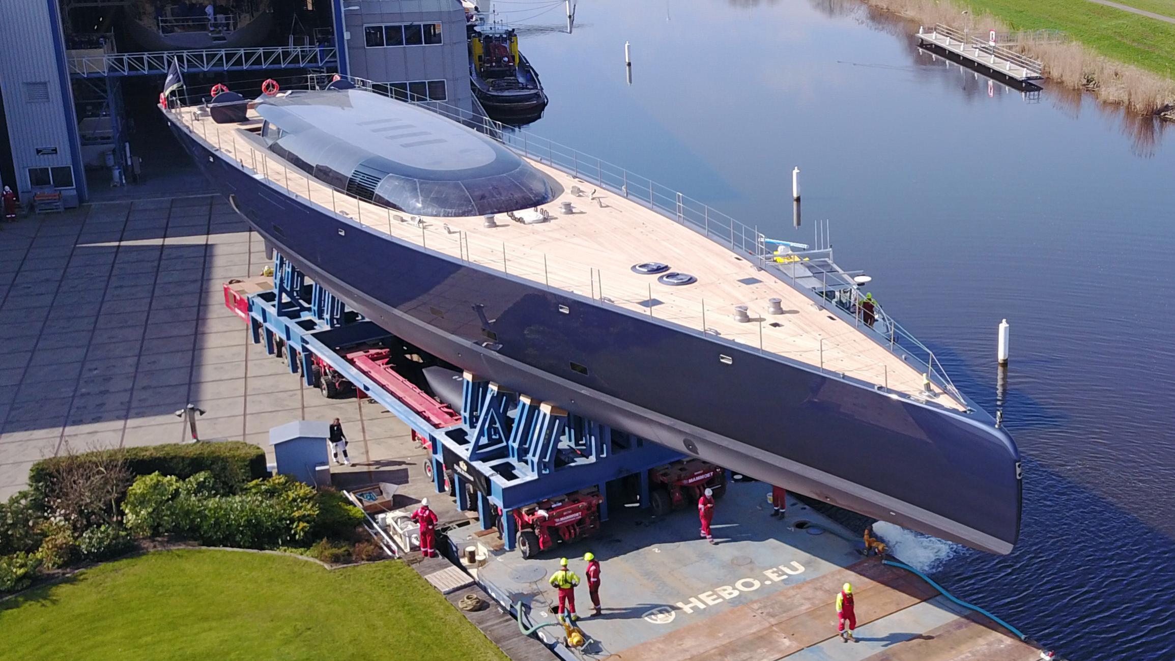 ngoni sailing yacht royal huisman 58m 2017 launch half profile