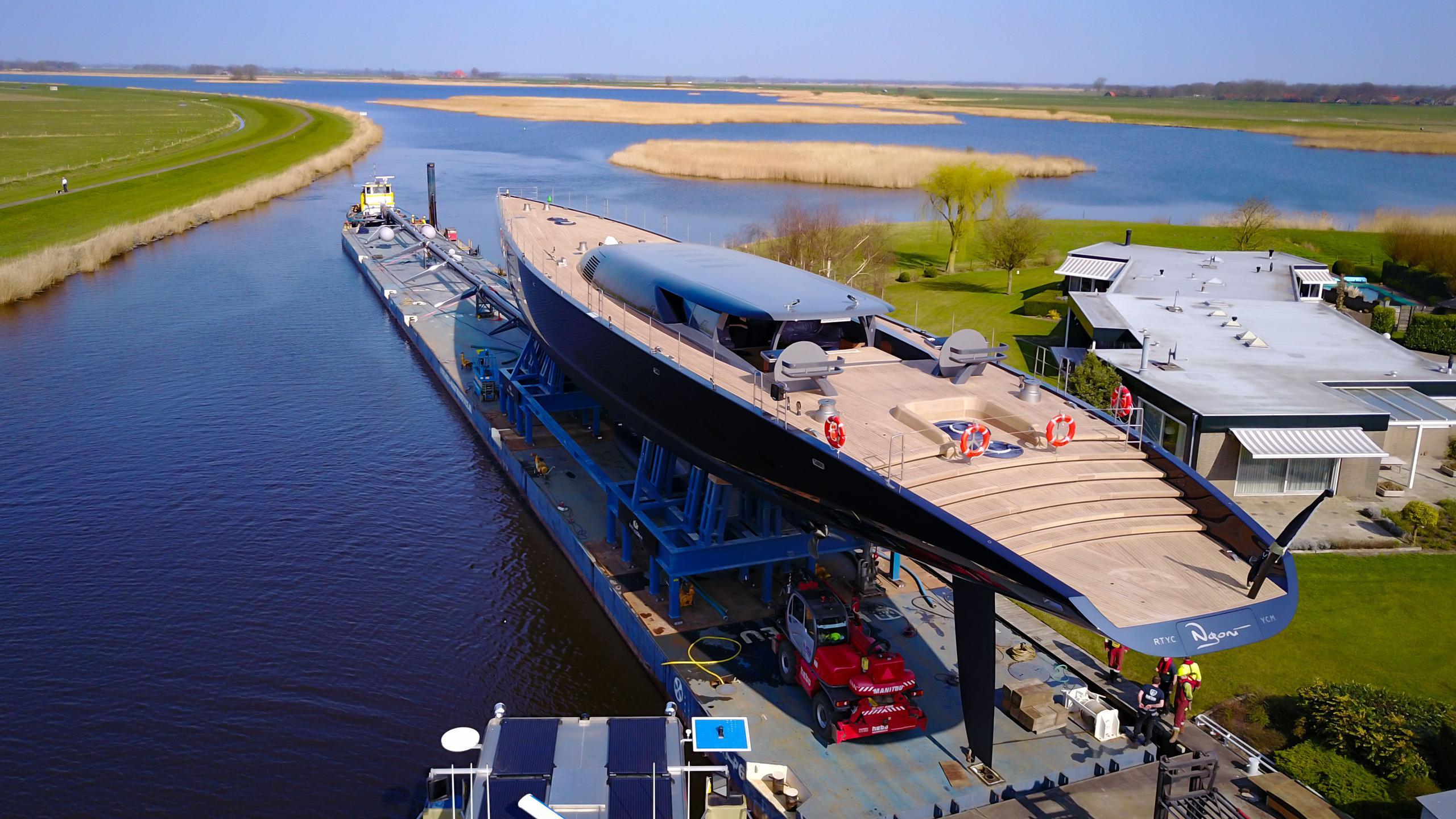 ngoni sailing yacht royal huisman 58m 2017 launch half stern