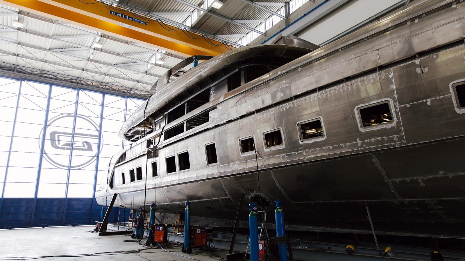 gtt 115 motoryacht dynamiq yachts 35m 2017 under construction