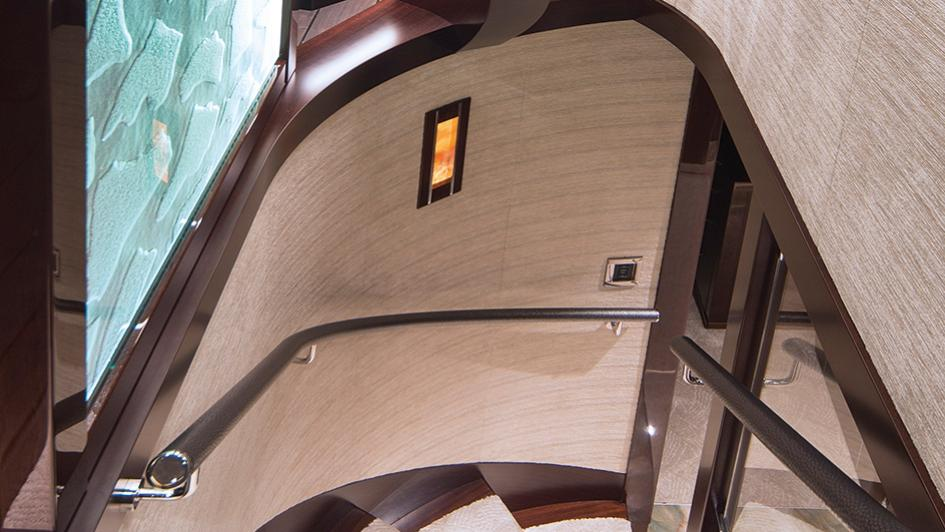 black gold motoryacht westport 125 stairs credit scott pearson
