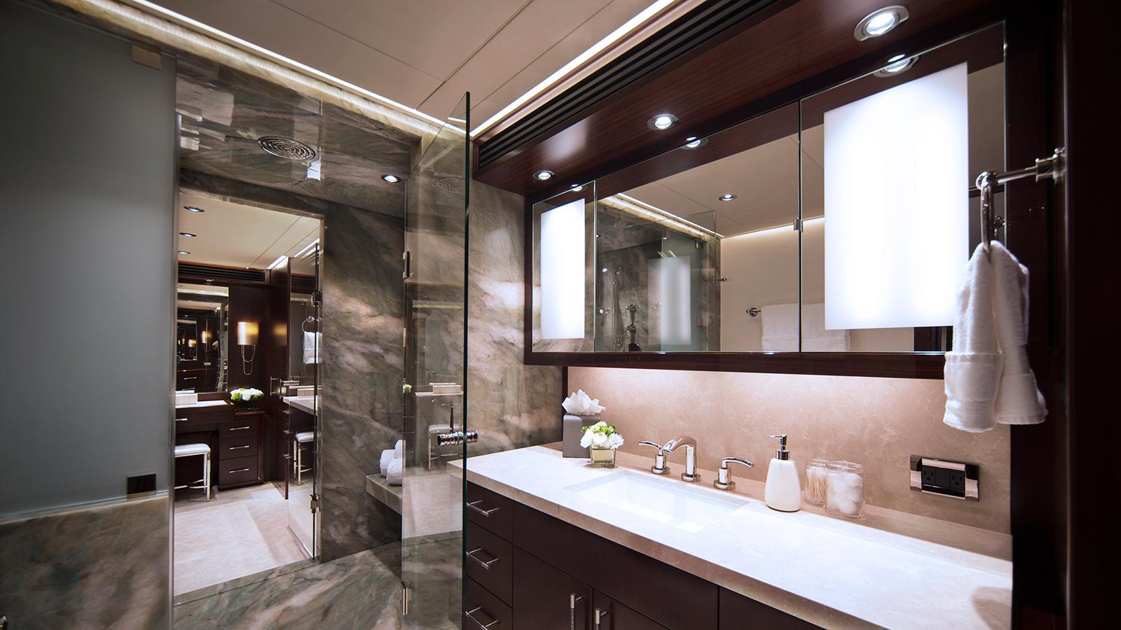 black gold motoryacht westport 125 bathroom credit scott pearson