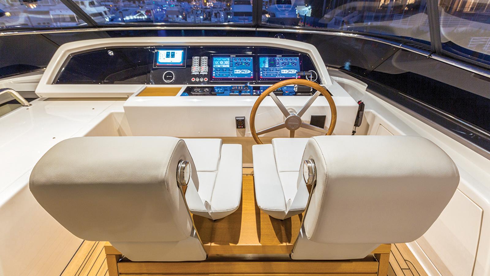 hull 651 motoryacht sanlorenzo sl86 27m 2016 sundeck wheel station credit jim raycroft