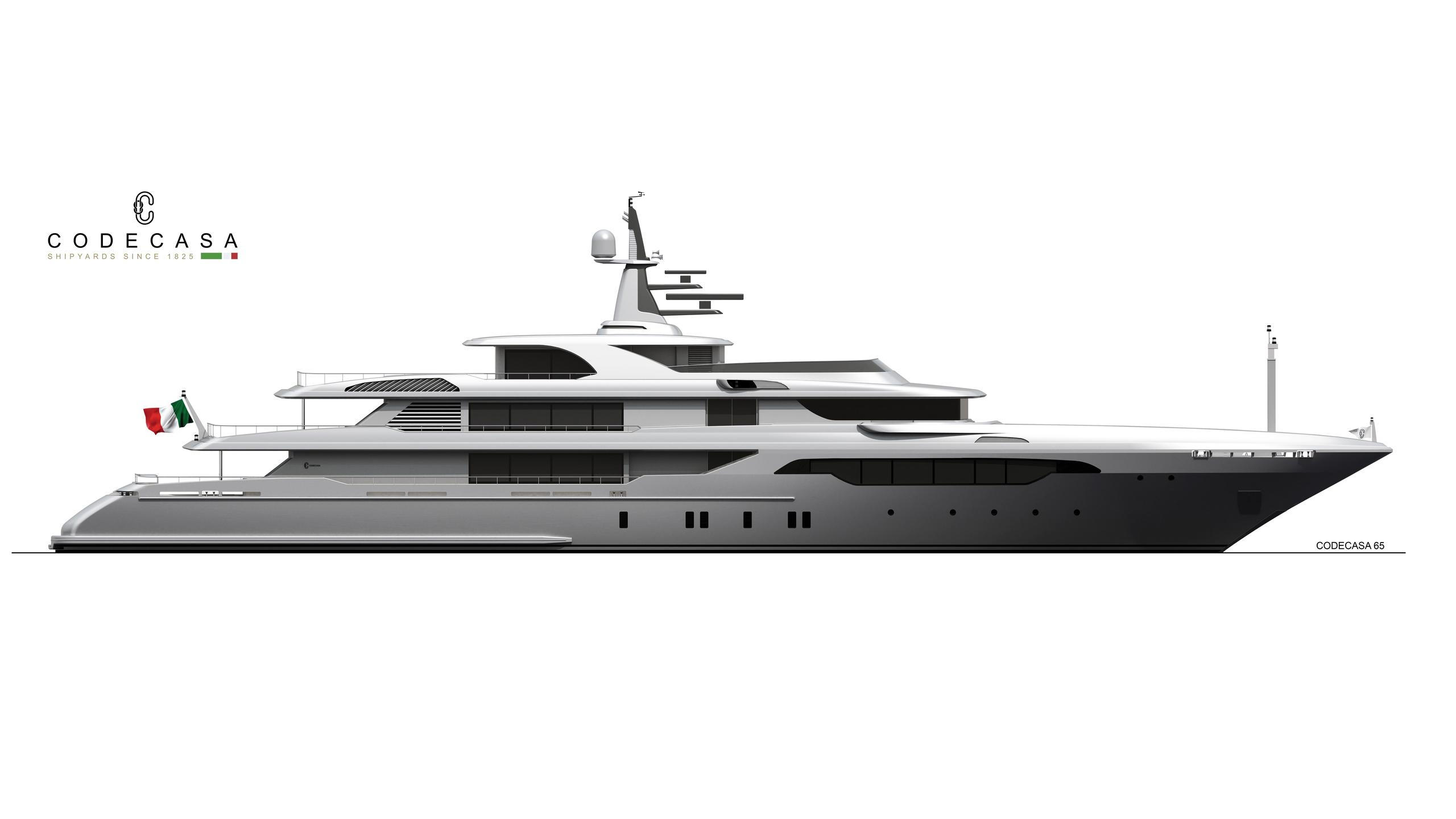 hull f74 motoryacht codecasa 65m 2019 rendering