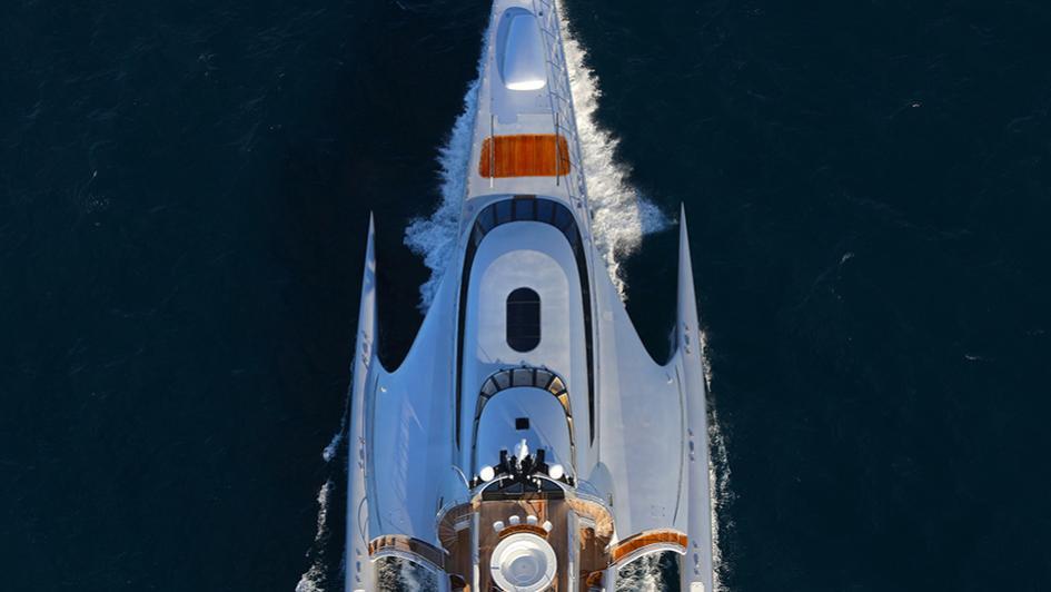 galaxy of happiness trimaran yacht latitude 2016 53m cruising aerial