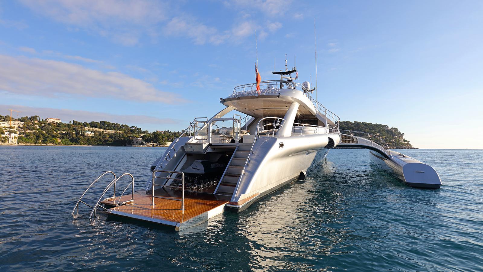 galaxy of happiness trimaran yacht latitude 2016 53m bathing platform