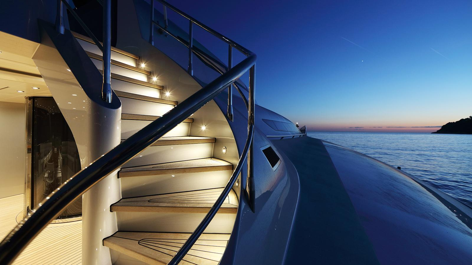 galaxy of happiness trimaran yacht latitude 2016 53m side stairs