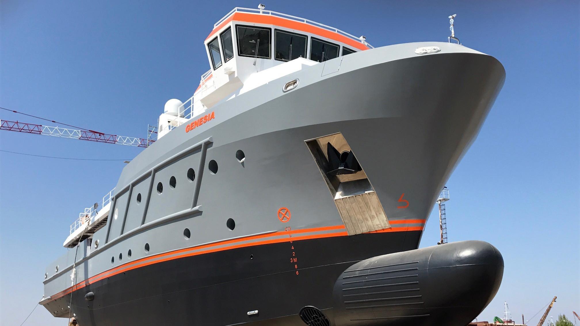 genesia motoryacht chioggia ocean king 130 yacht 40m 2017 launch bow