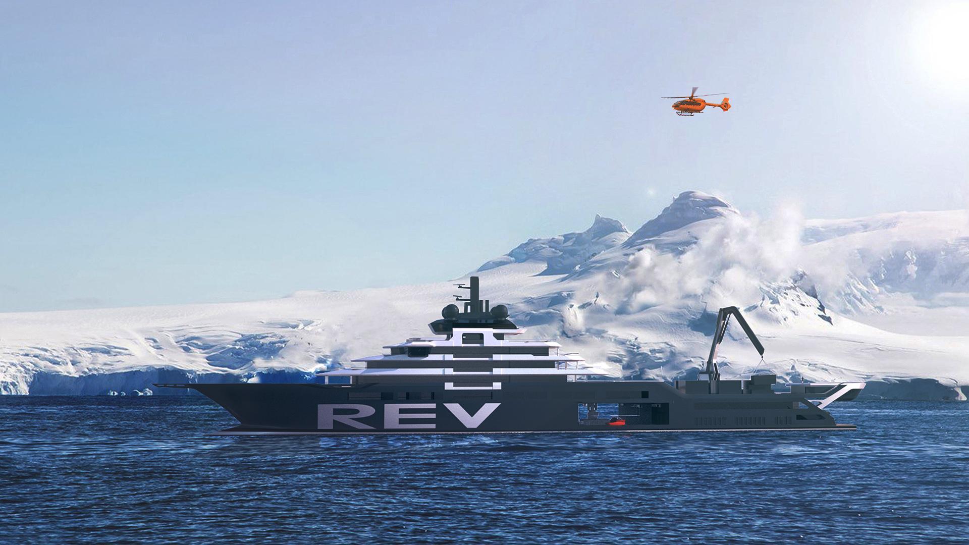 rev motoryacht vard 182m 2020 rendering profile