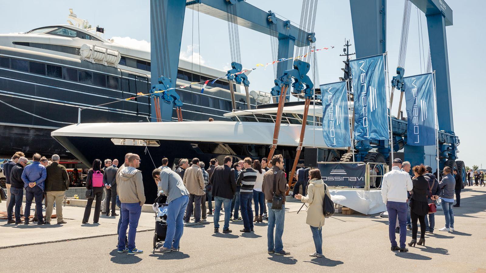 n2h motoryacht rossinavi prince shark 49m 2017 launch party