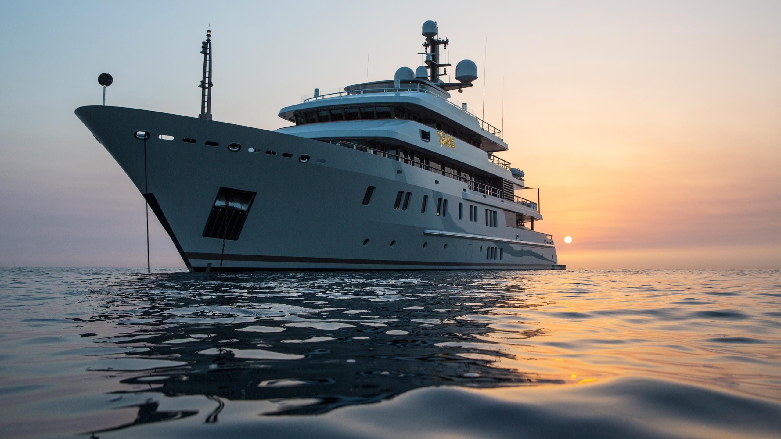polar star explorer yacht lurssen 2005 65m bow