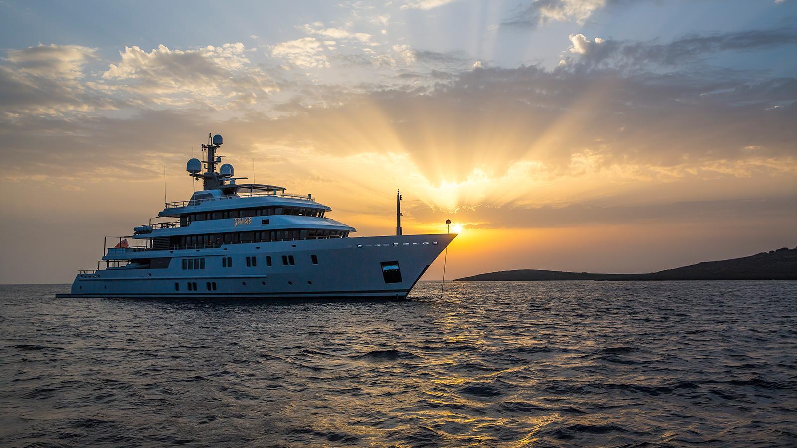 polar star explorer yacht lurssen 2005 65m half profile