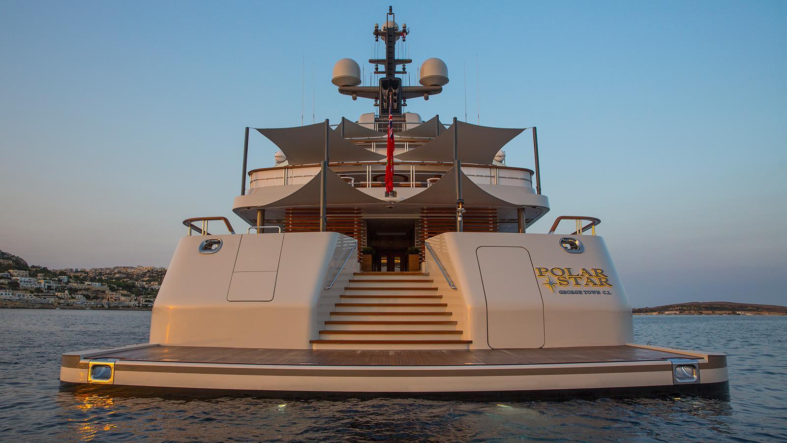 polar star explorer yacht lurssen 2005 65m stern