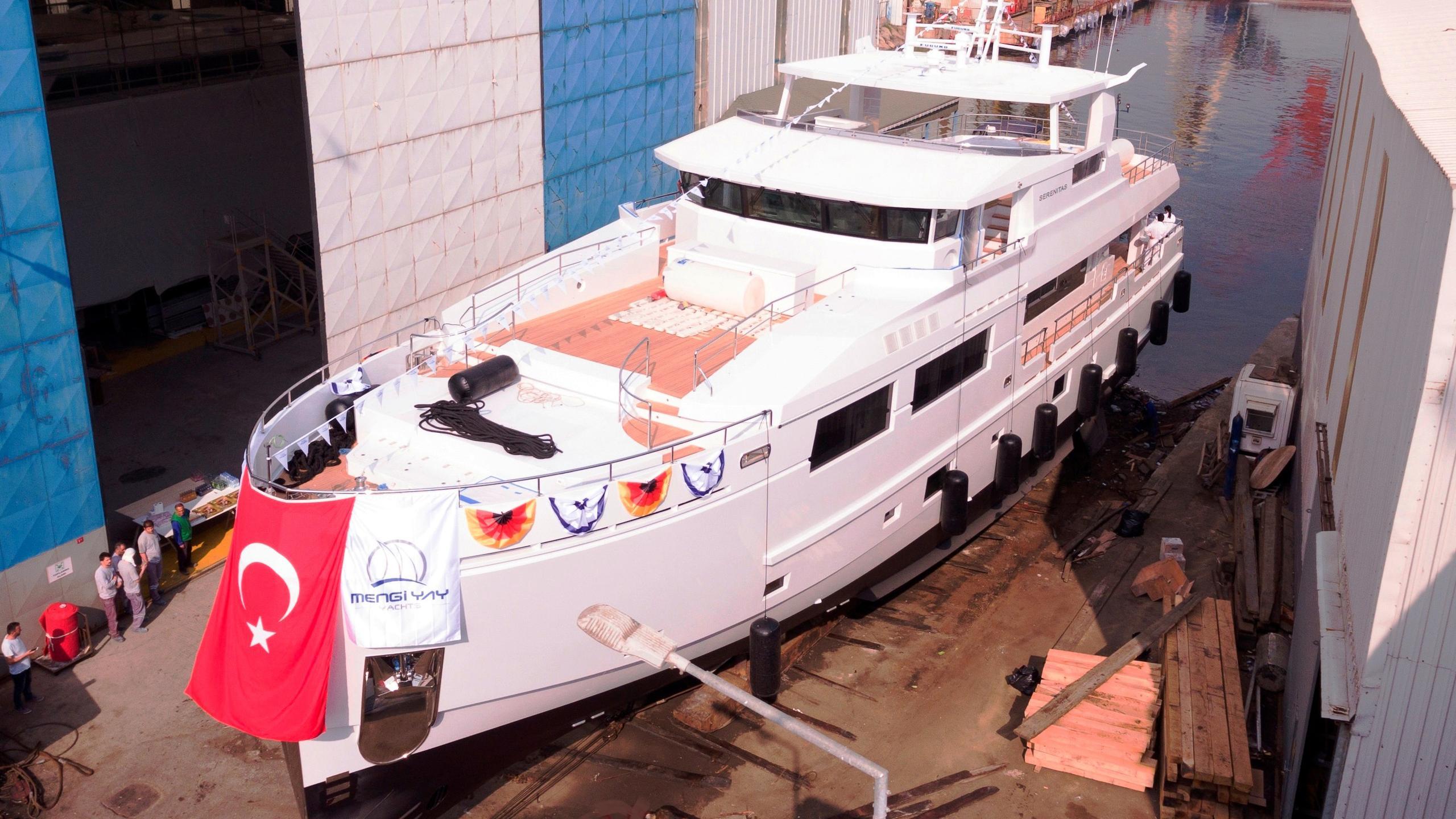 serenitas ii motoryacht mengi yay 32m 2017 launch half profile